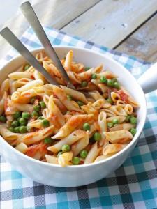 vega pasta met doperwten